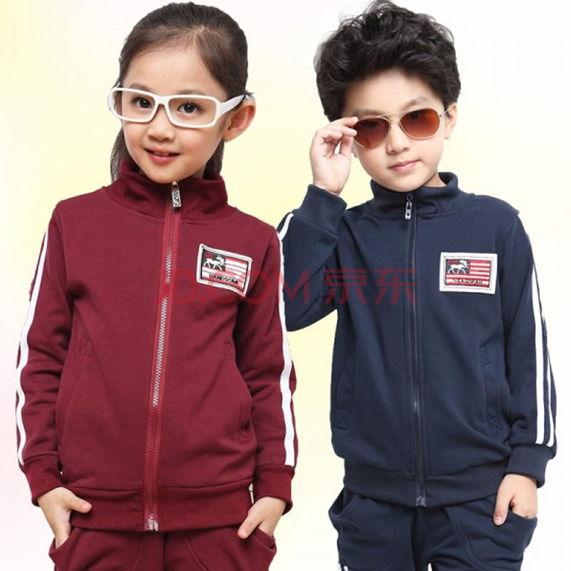 秋款品牌儿童运动套装