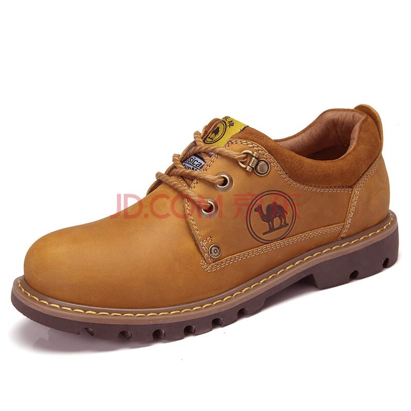 骆驼牌男鞋户外休闲板鞋低帮马丁鞋大头鞋工装鞋 W32302092 土黄 38