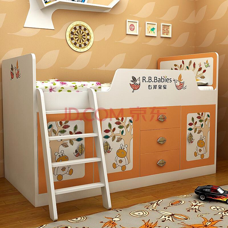 组合儿童床 爬梯半高床男孩女孩组合床