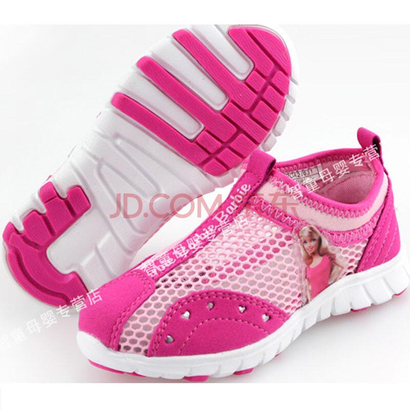 芭比童鞋儿童运动鞋 夏季女童网面网眼鞋公主单鞋