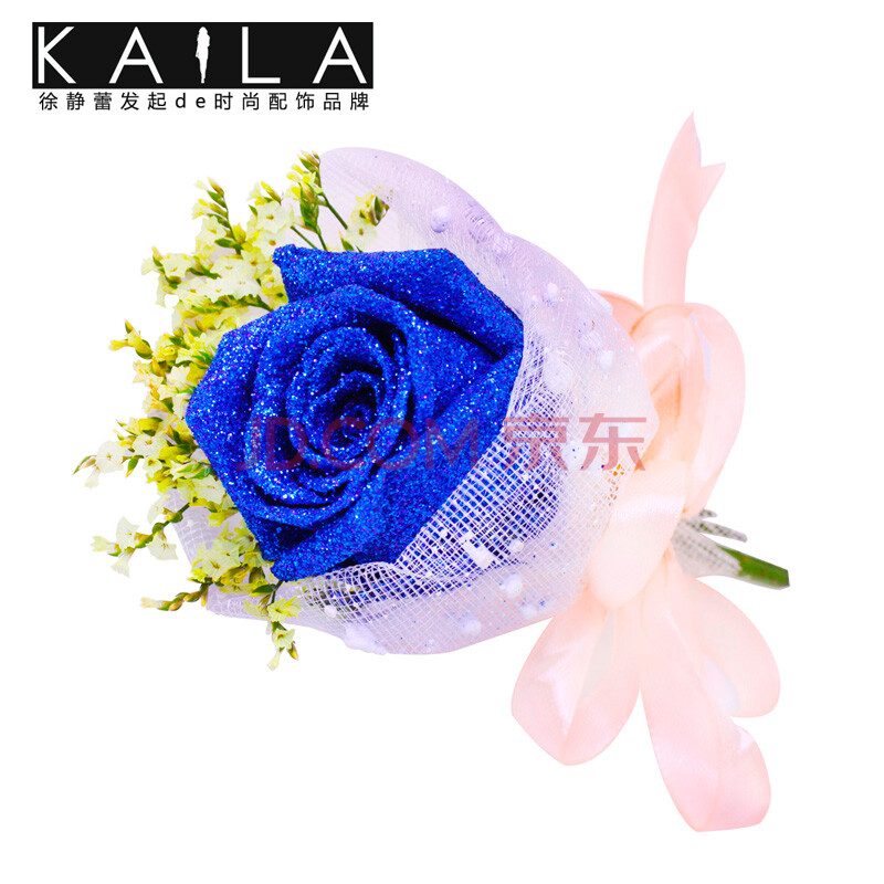 蓝色妖姬玫瑰花图片-京东