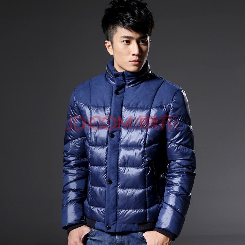 新款羽绒服男款男士男式男装韩版修身大码加厚保暖时尚休闲白鸭绒森马图片
