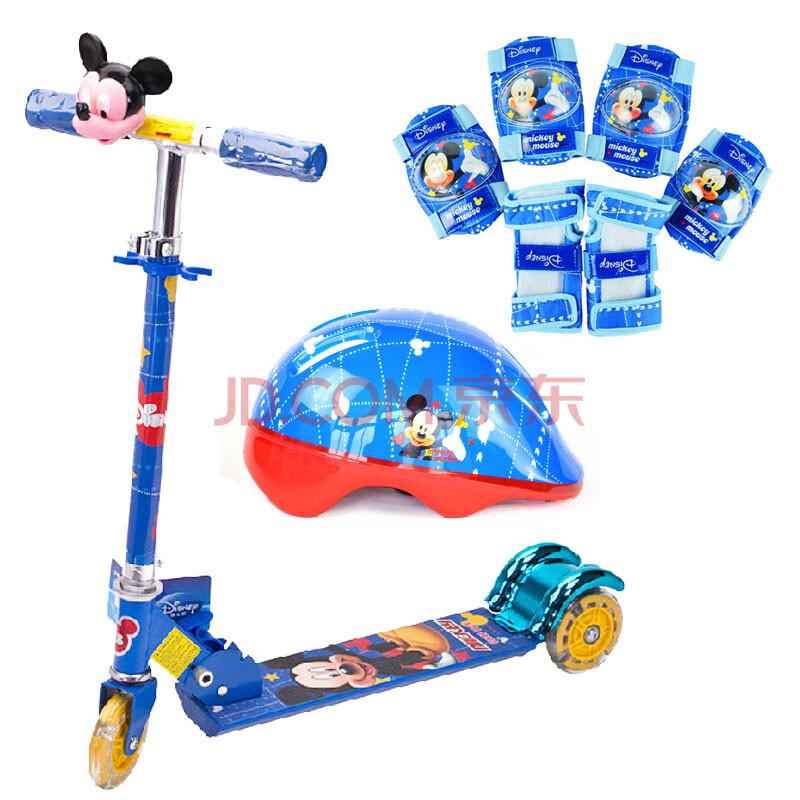 儿童三轮滑板车超酷全铝合金折叠无需组装童车闪光轮
