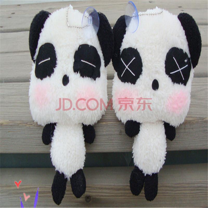 卡通毛绒熊猫小公仔