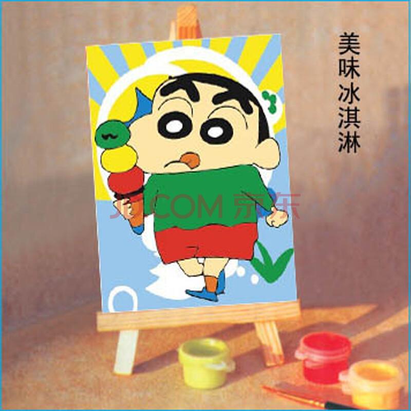 礼物手绘油画 卡通礼物 带画架 跳舞之蜡笔小新10*15系列 美味冰淇淋