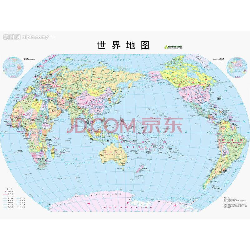 世界地图(中英文)
