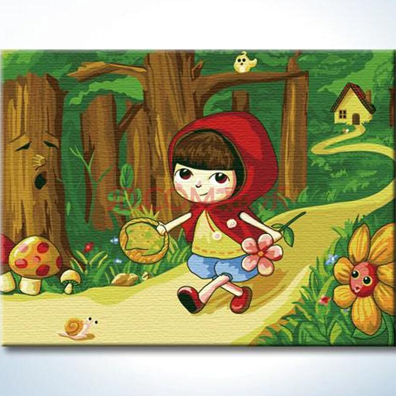 【儿童礼物】diy手工画 数字油画 绑好实木内框 30*40