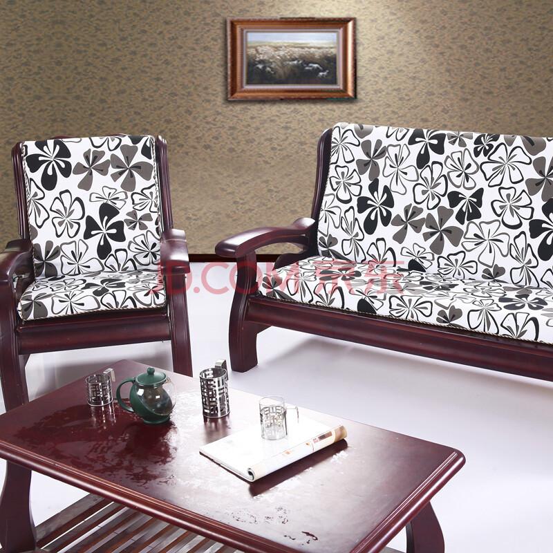 【货到付款】宜麦轩 红木沙发垫海绵垫 黑蝴蝶 大三人位170*50cm