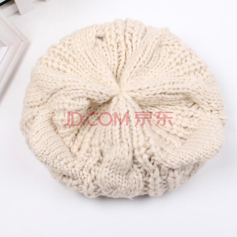 京品年货女帽子冬款针织帽猫耳朵男女孩宝宝保暖帽子纯色帽子可爱耳朵
