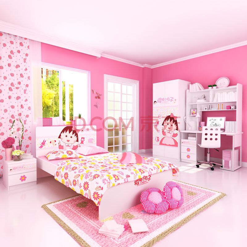 酷漫居儿童家具 樱桃小丸子欢乐时光套房四件套