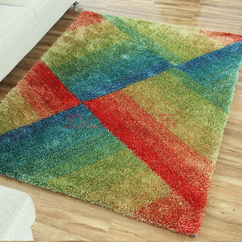 秀宁 客厅卧室地垫地毯 浪漫彩虹地垫 保暖门垫 可定制任意尺寸 彩虹