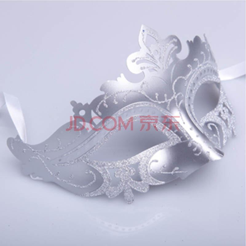 礼莫愁 圣诞节威尼斯面具 舞会 化妆晚会 派对聚会公主面具 女 银色