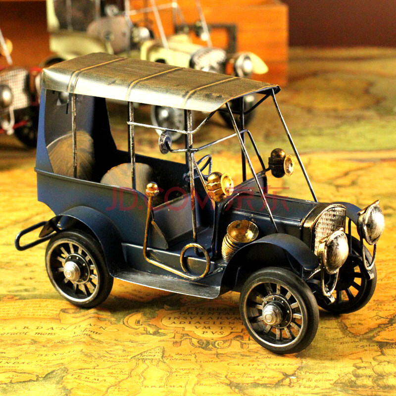 工铁皮汽车模型收藏工艺品家居摆件摄影道