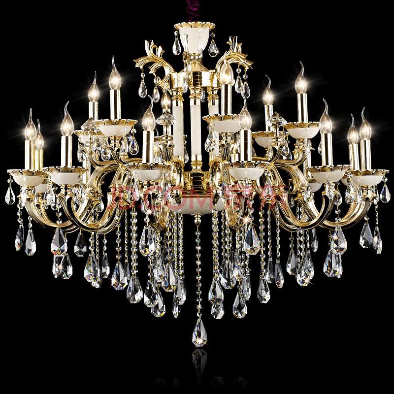 光印欧式进口锌合金水晶吊灯客厅水晶灯具灯饰md1048