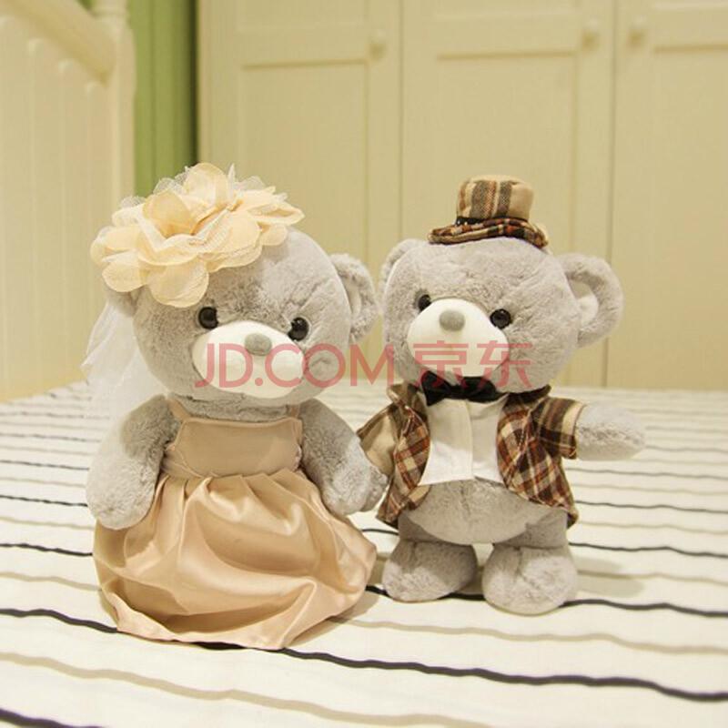 唐装婚纱熊玩偶