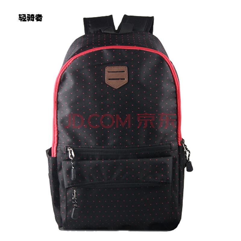波点包时尚电脑背包 中学生书包女生韩版书包旅行包