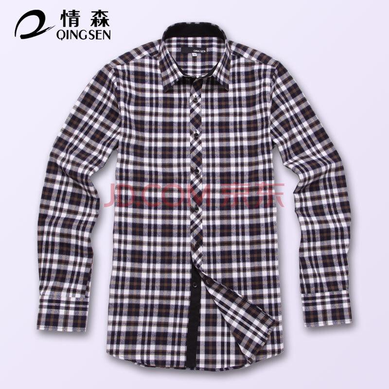 qingsediguo_【情森(qingsen)】情森新款 2014热卖春秋格子衬衫