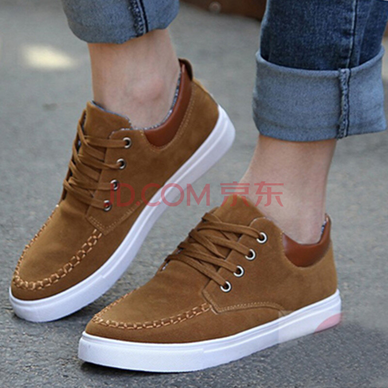 帮鞋男士运动休闲鞋 棕色