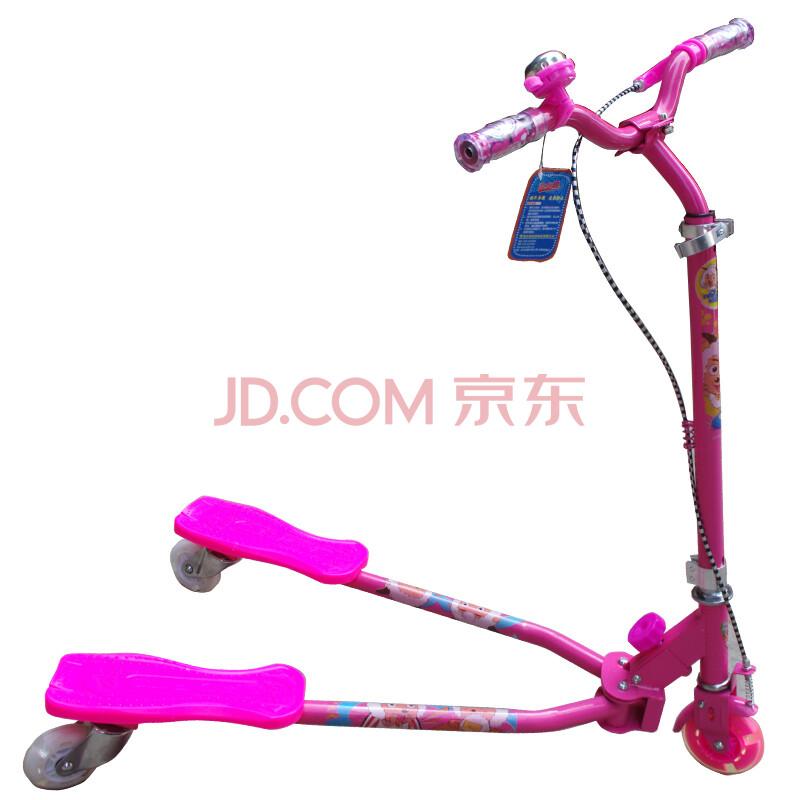 韩国儿童蛙式滑板车太空车三轮活力车扭扭车