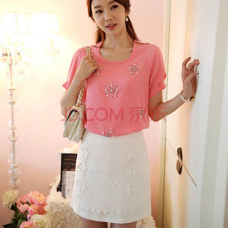 简迪卡 2014夏装新款 韩版蕾丝时尚半身裙 A字