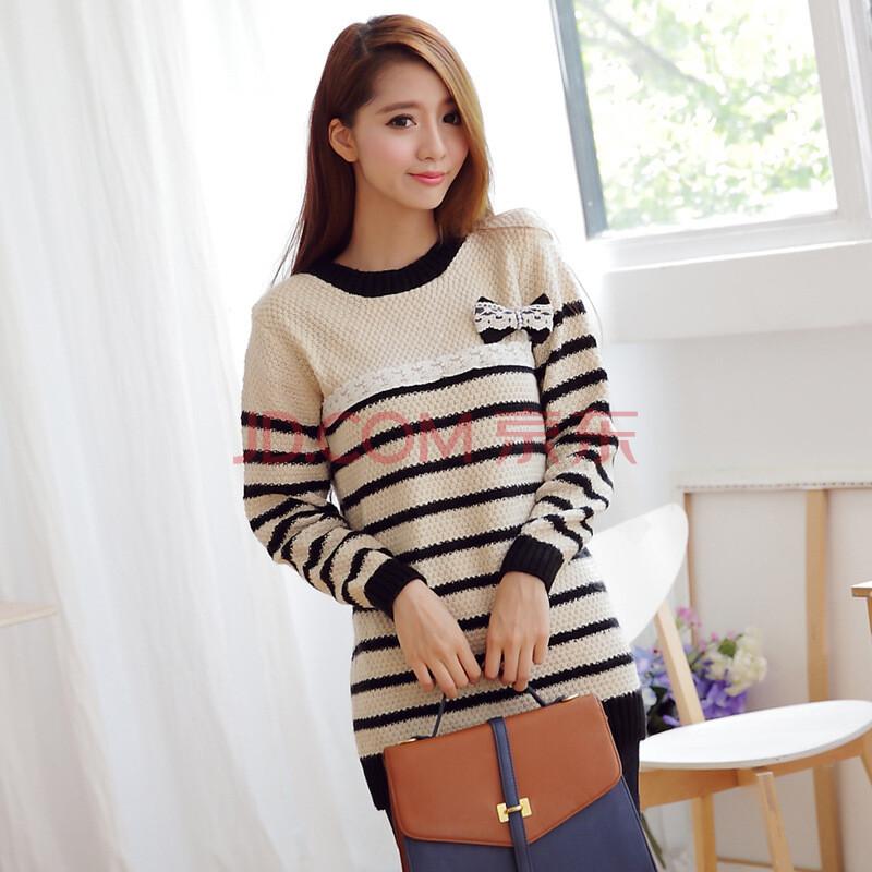 结女式韩国毛衣 模特色图片