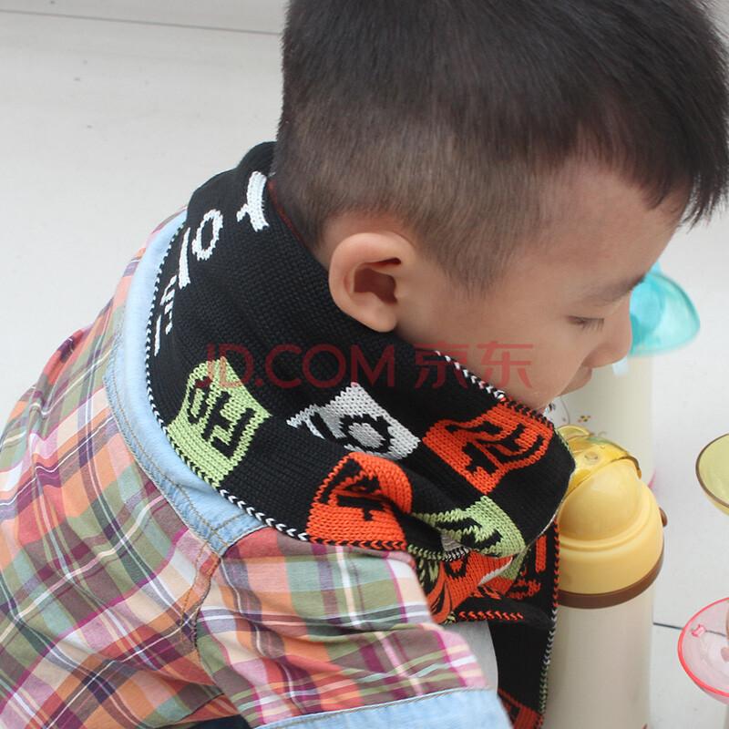 婴幼儿童围巾韩版潮男童女童冬天毛线针织