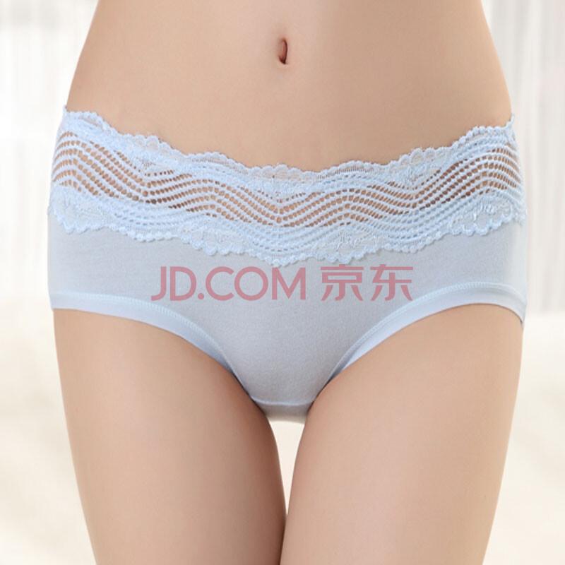 格年性感蕾丝内裤 女 低腰纯色可爱莫代尔棉透明女士