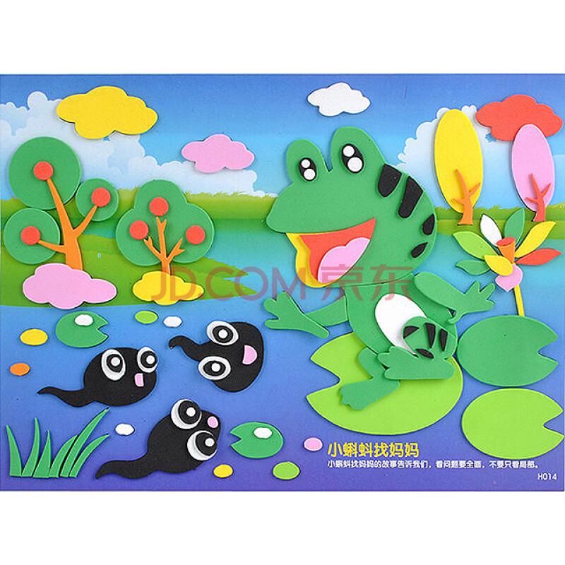 eva贴画寓言故事系列-小蝌蚪找妈妈儿童益智贴画