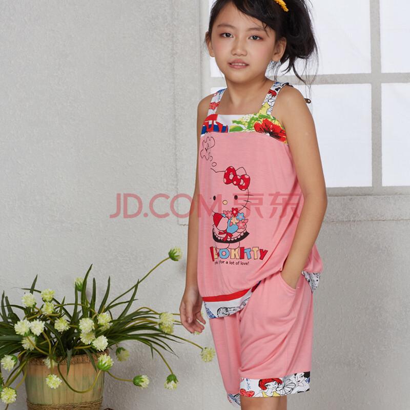 2014新款儿童睡衣 夏季女童吊带短裙睡裙