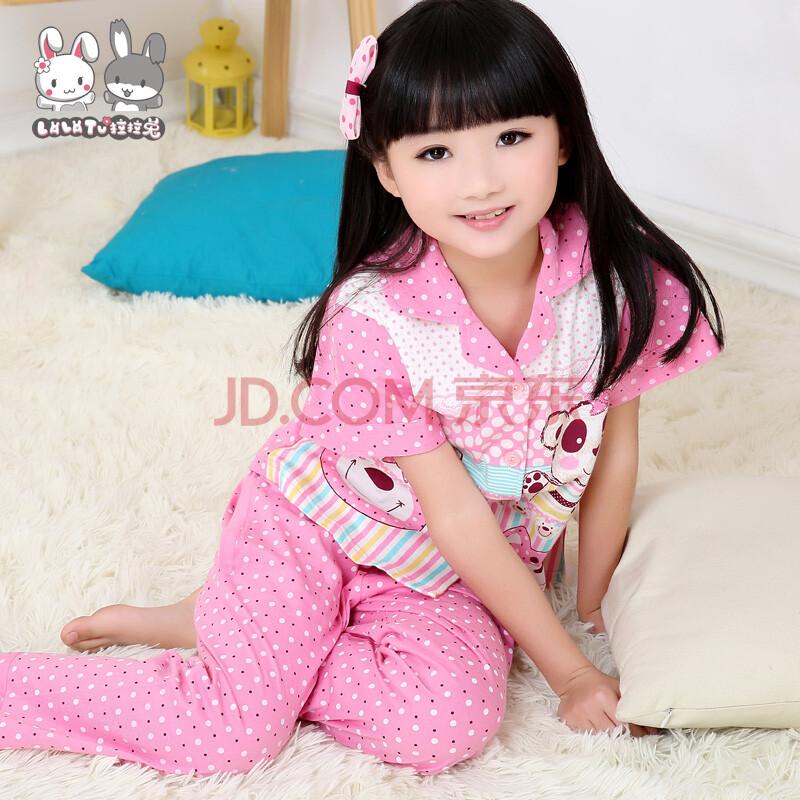 夏季儿童睡衣 女童 可爱睡裙纯棉