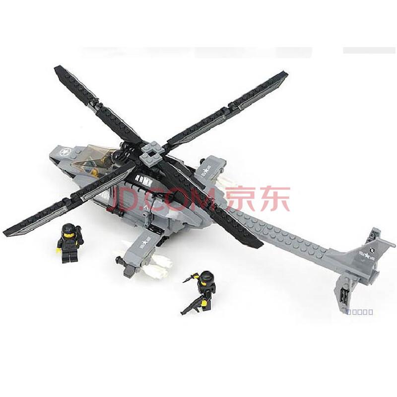星钻益智拼装积木玩具/特种部队系列82166猎鹰直升机