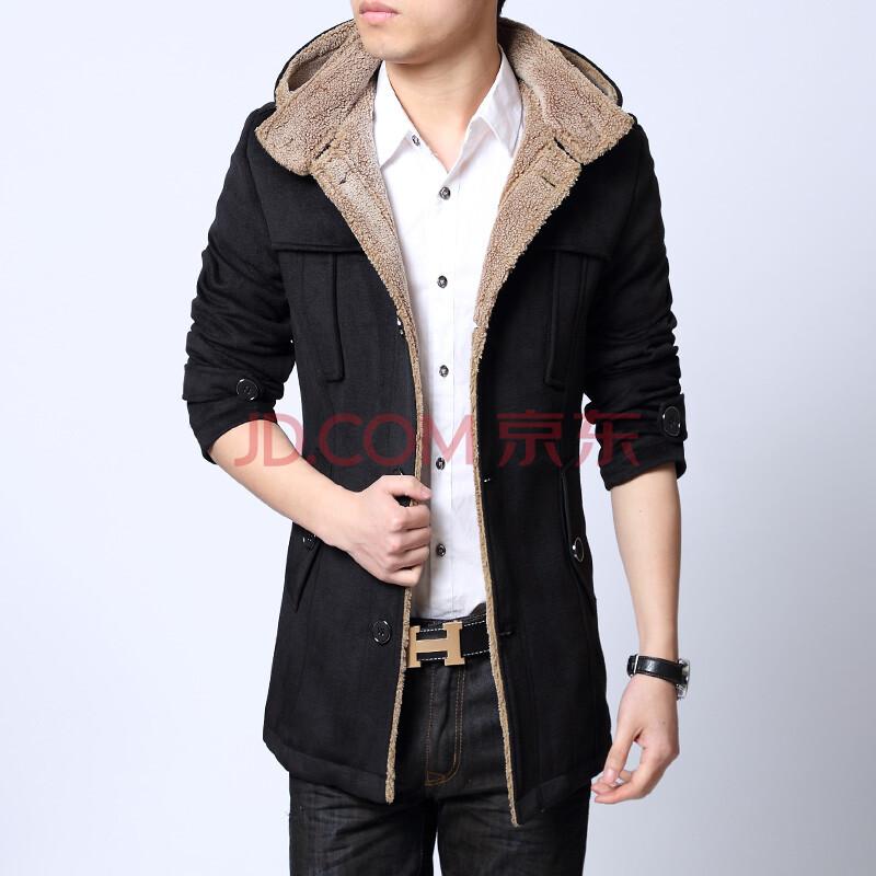 迎2013冬季新品男士羊毛大衣图片