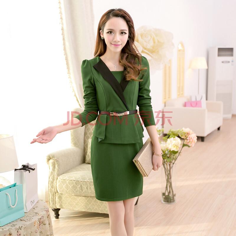 艾逸朵2014春装新款ol气质假两件修身显瘦连衣裙包臀