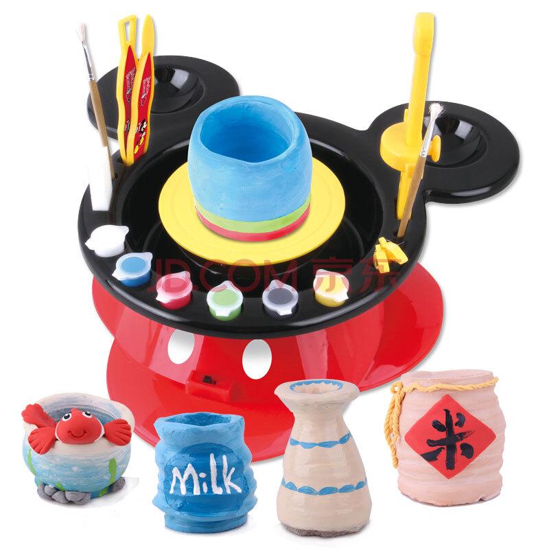 disney 迪士尼 陶艺机手工陶泥作品陶泥机器 土泥diy玩具 儿童安全