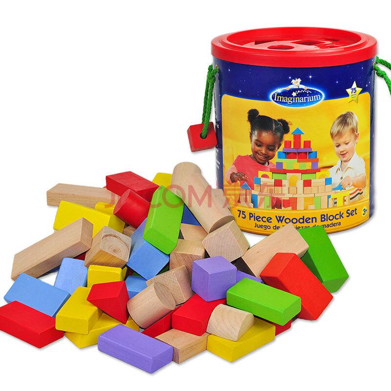 玩具反斗城tru 75粒桶装多彩益智积木 美国版