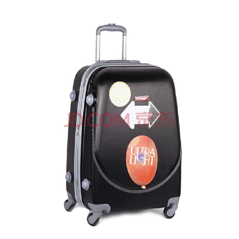 万向轮旅行箱20/24/28寸 abs防水登机箱飞机行李箱 701 黑色 28寸