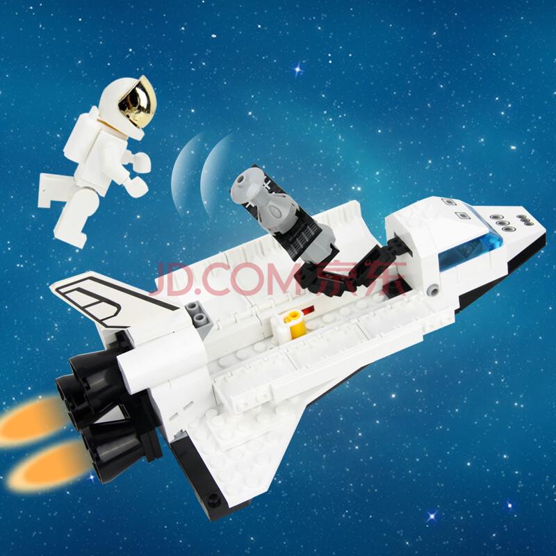 乐高式拼装积木玩具 超大型航天发射基地仿真玩具飞机儿童玩具 六一
