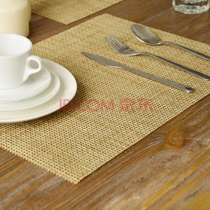 奇居良品 PVC餐垫隔热防水餐具垫餐巾餐桌垫杯垫杯垫碗垫  6片装