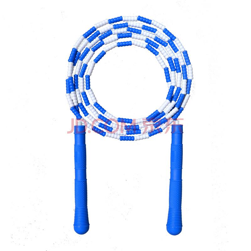 龙花(longhua) 701b 花样竹节短绳 学生健身花式珠节跳绳 蓝色图片