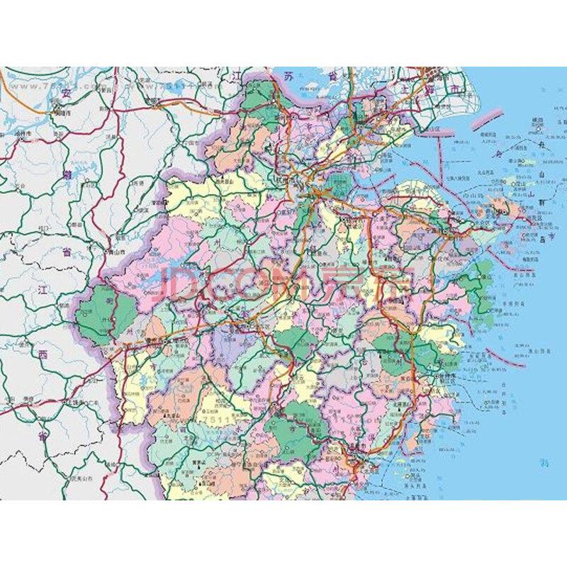 浙江省地图 星球地图出版社