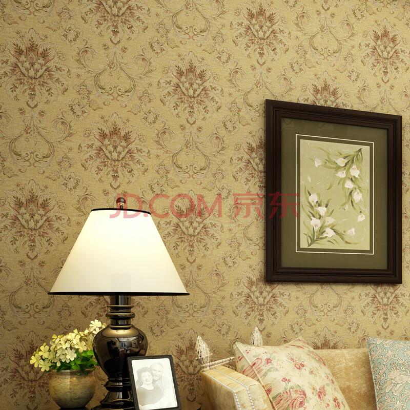 【货到付款】旗航壁纸 优质纯纸美式风格墙纸 客厅卧室满铺墙纸 jdm-o图片