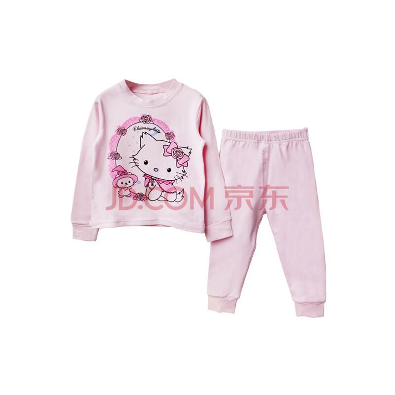 儿童内衣运动套装全纯棉男女童宝宝婴儿睡衣大嘴猴