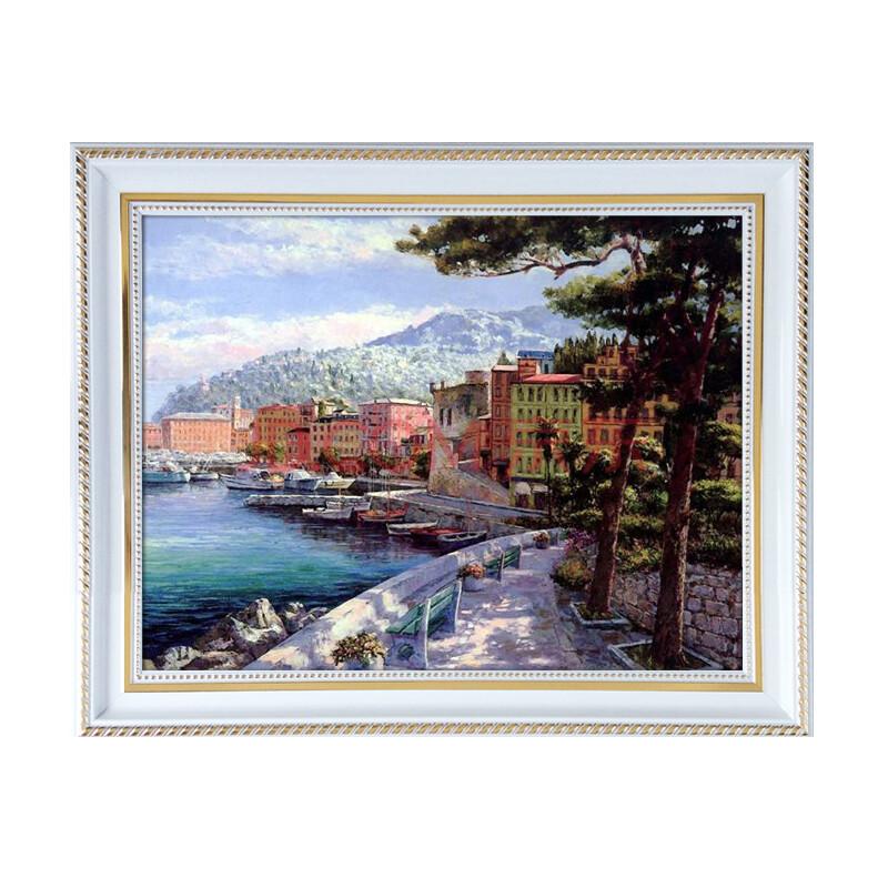 室全室美现代客厅卧室餐厅家居简约复古欧式经典白色框有框装饰画风景图片