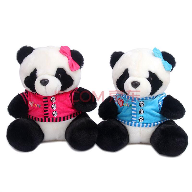 新款情侣熊猫 一对熊猫公仔毛绒玩具