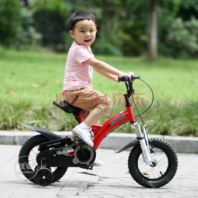 优贝儿童自行车小飞熊12寸14寸16寸全避震童车男女