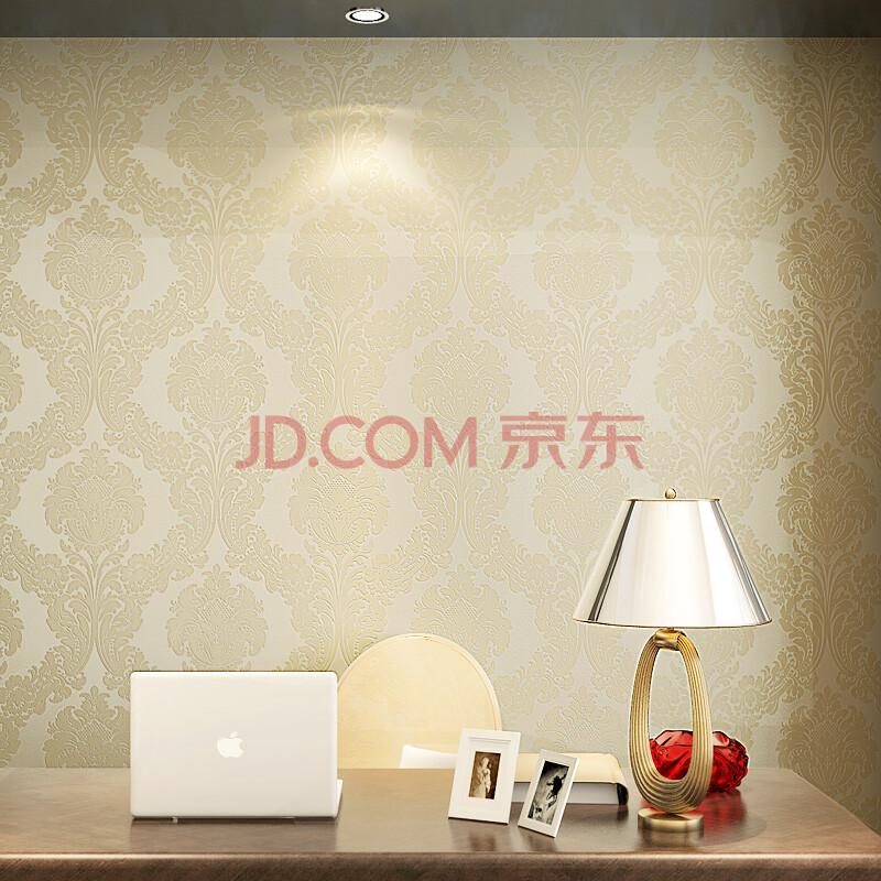 纸尚美学无纺布墙纸 大马士革欧式客厅卧室电视背景墙
