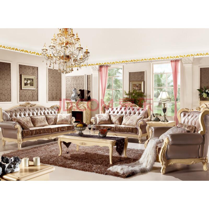 邦美居 法式奢华 实木沙发 田园客厅沙发 欧式沙发组合特价 k-03 图片