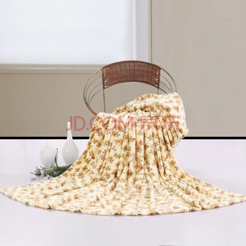 慕梵依家纺 床上用品 珊瑚绒毯子 保暖毛毯 雪花 180*200cm