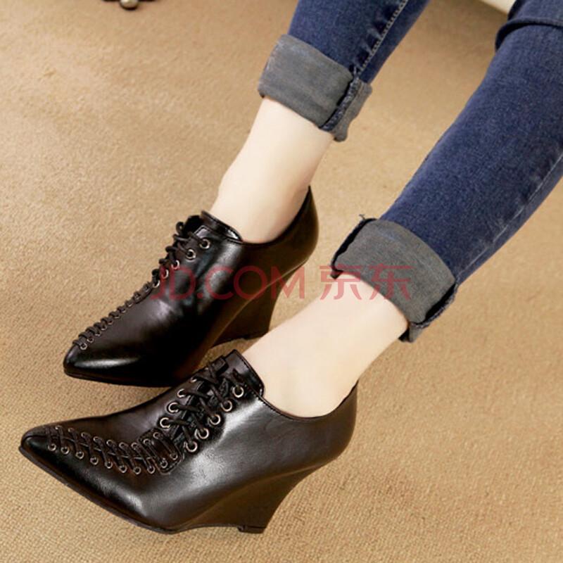 高跟英伦马丁踝靴祼靴