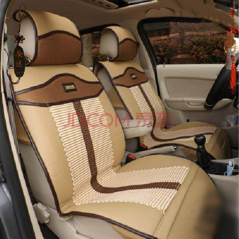 安达汽车用品环保丝棉丹尼皮冰丝3d结构汽车坐垫 高雅